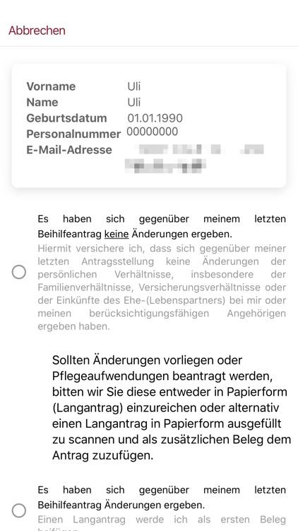 eBeihilfe - RLP - App
