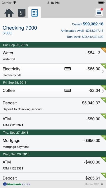 Merchants Bank Business Mobile screenshot-4