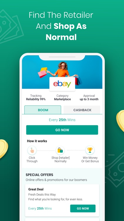 Boom25: Cashback & Giveaways screenshot-3