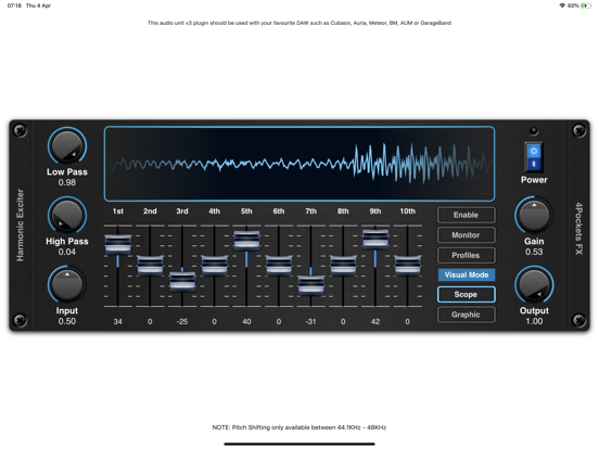 Harmonic Exciter AUv3 Plugin