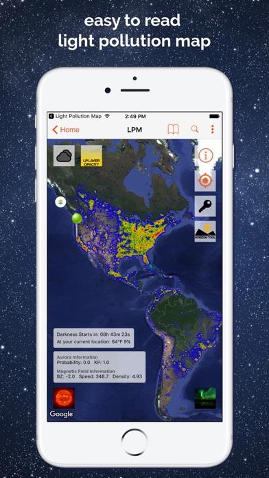 Light Pollution Map - Dark Sky Screenshot