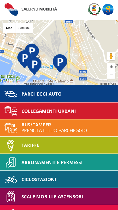 Screenshot of Salerno Mobilità2