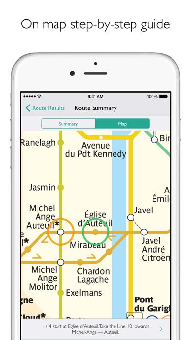 Paris Metro Map and Routes Screenshot
