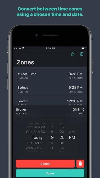 Zones - Time Zone Conversion screenshot-2