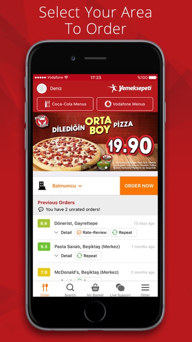 Screenshot for Yemeksepeti in United Arab Emirates App Store