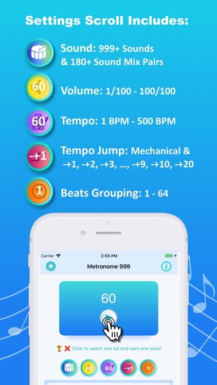 Metronome 999 - Beat,Tempo,BPM screenshot-5