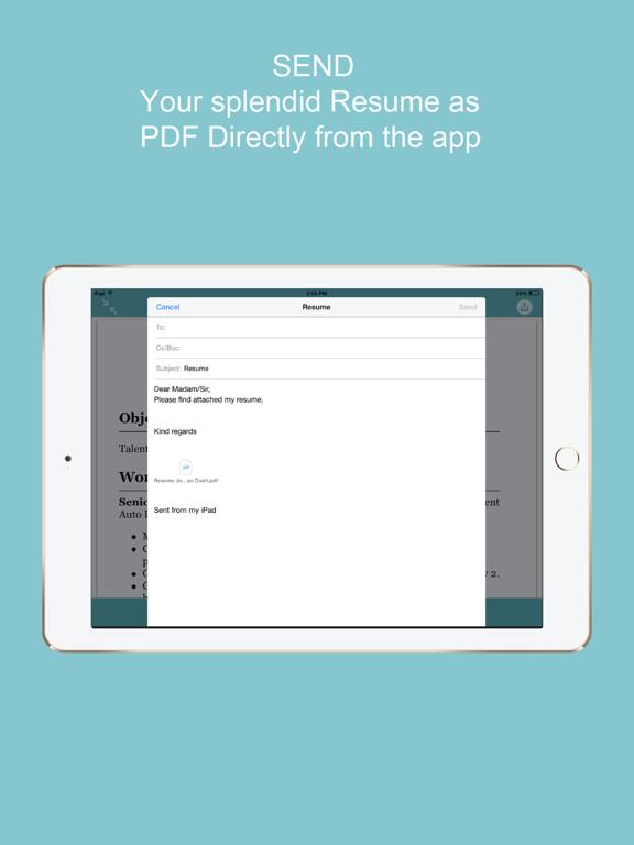 cv builder - curriculum vitae - app voor iphone  ipad en ipod touch