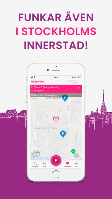 Screenshot for EasyPark | Parkeringsapp in Sweden App Store