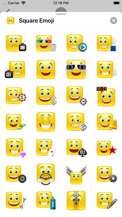 Yellow Square Smileys Emoticon screenshot-3
