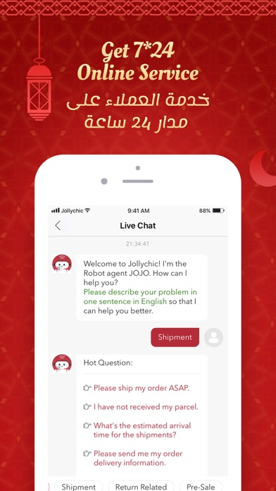 Screenshot for Jollychic- جولي شيك in Belgium App Store