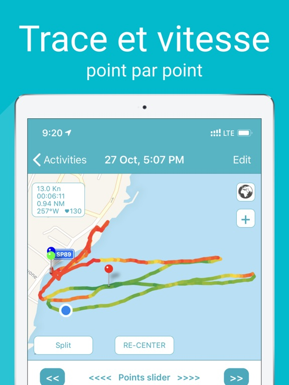 Screenshot #6 pour Waterspeed Voile, SUP,Surf GPS