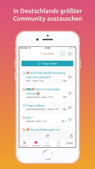 messages.download urbia Eisprungkalender software