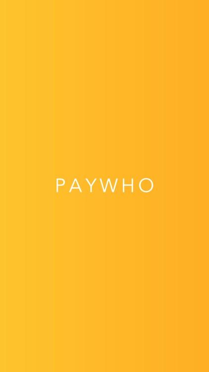 PayWho: Quick Split Bill