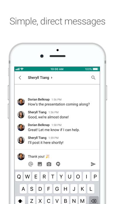 Google Hangouts Chat Screenshot