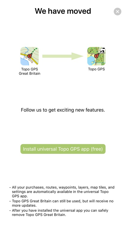 Topo GPS Great Britain