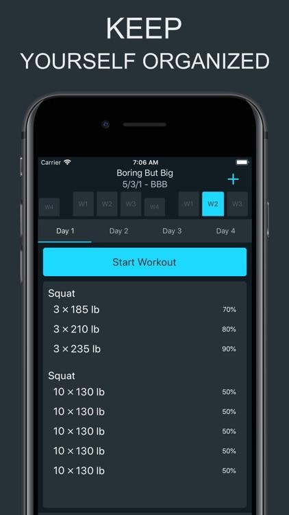 Ultimate 5/3/1 - Workout Log screenshot-4