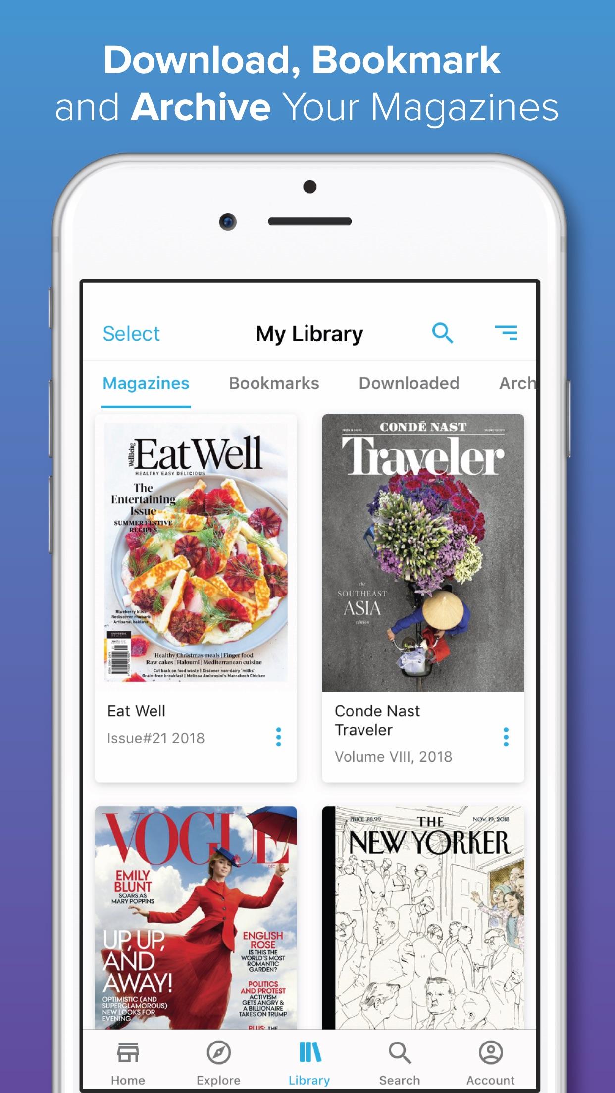 ZINIO - Magazine Newsstand Screenshot