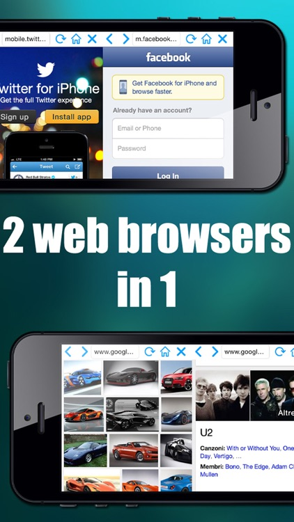 Double browser Pro 2 in 1