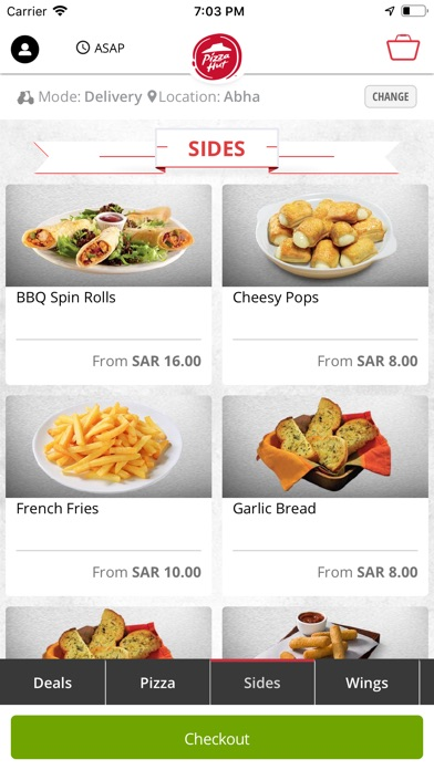 Screenshot for Pizza Hut KSA in Singapore App Store