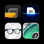 Super Tools - measuring tape,document scanner,pocket glasses,metal detector & more!