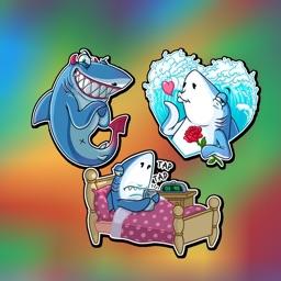 Blue Shark Stickers