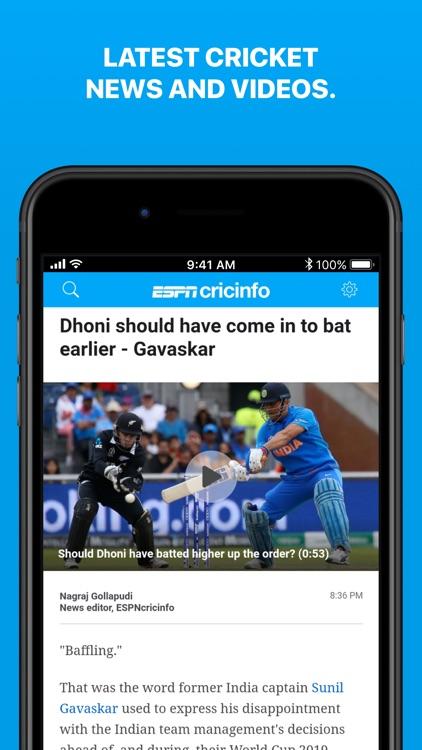 Cricinfo - Live Cricket Scores screenshot-3