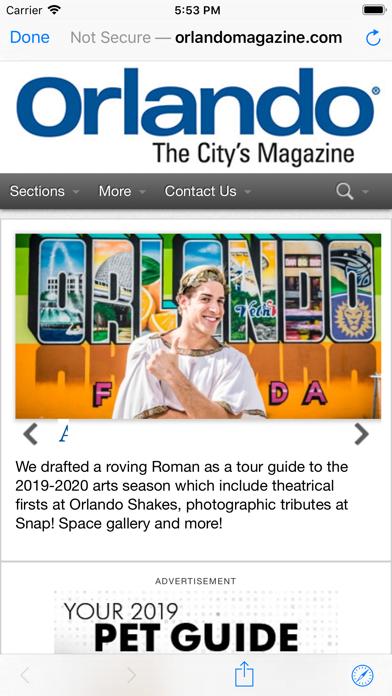 Orlando Magazine Insider screenshot 2