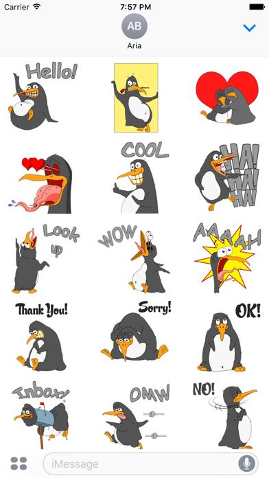 Funny & Crazy Penguin Sticker screenshot 2