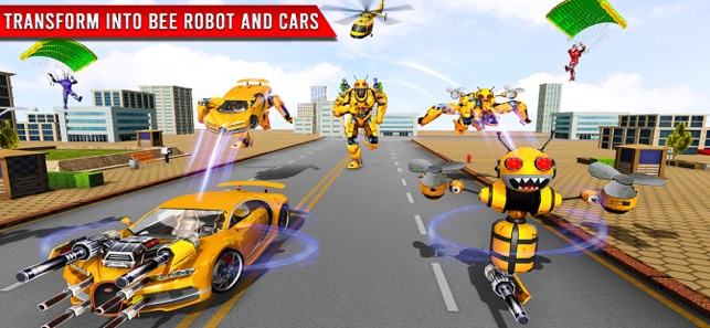Bee Robot Transform Game 3D, game for IOS