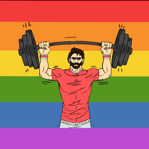 Gay Muscle Life Stickers