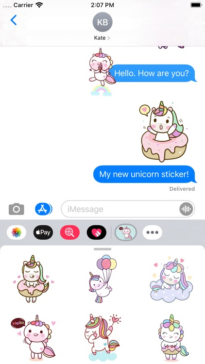 Naughty Unicorn Stickers