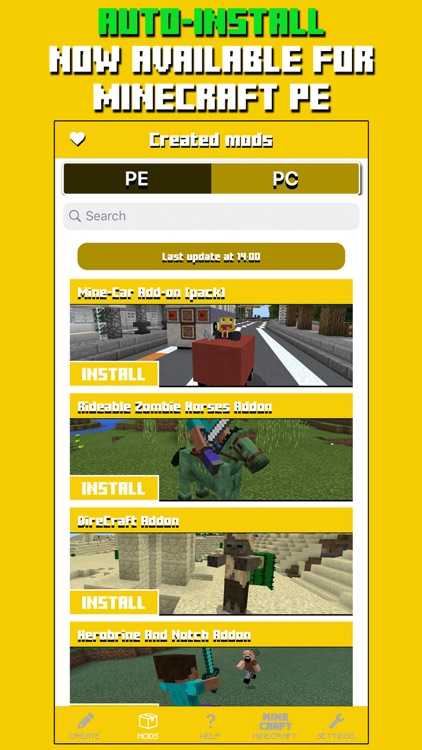 Mods for Minecraft PC & PE