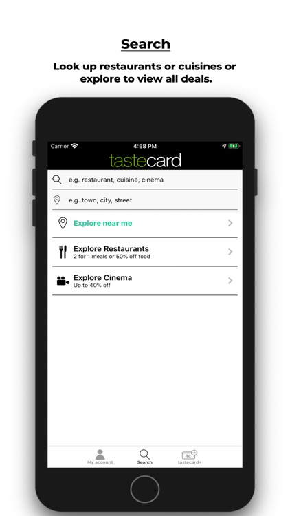 tastecard dining discounts screenshot-3