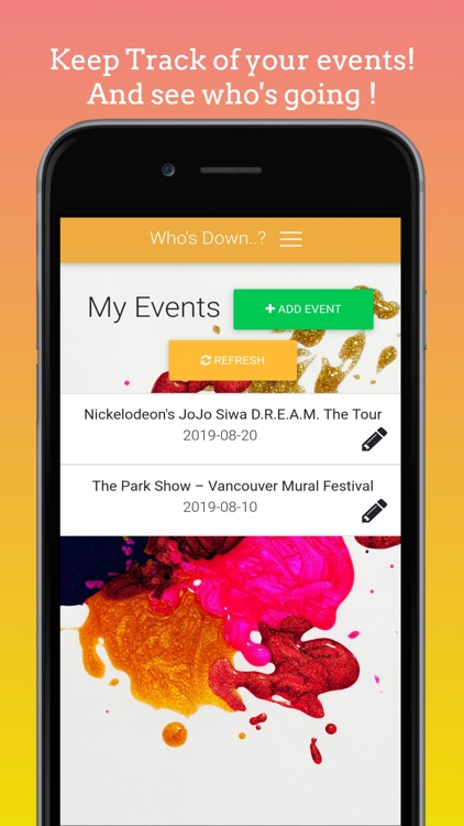 Whos Down:Find events near you