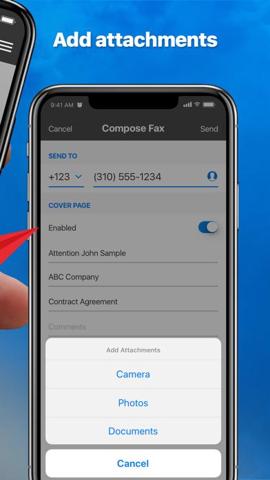 eFax – send fax from iPhone Screenshot