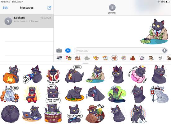Cat Halloween Emoji Stickers screenshot 4