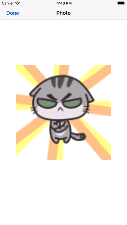 Gray cat sticker screenshot-4