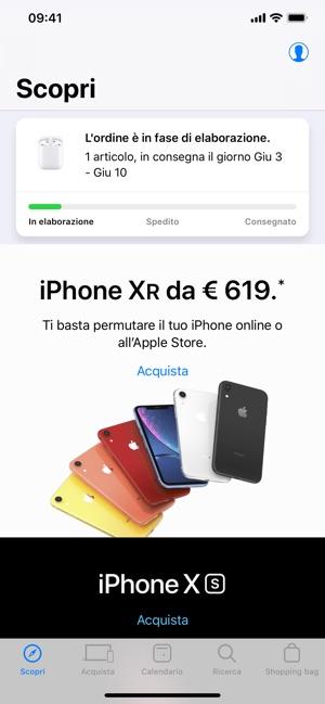 Apple Store, l'app si aggiorna alla vers 5.9