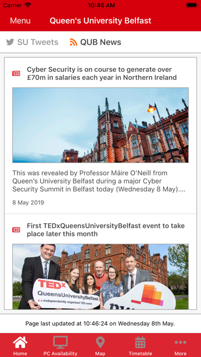 Queen's University Belfast screenshot three