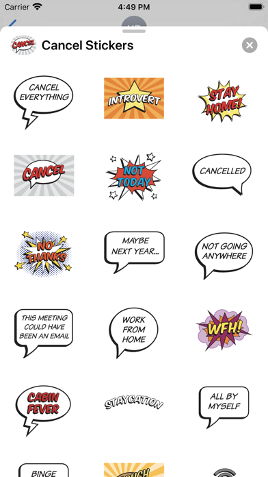 Cancel Everything Stickers screenshot 2