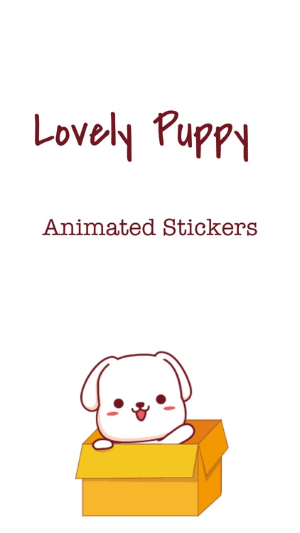 Lovely Puppy Animated Stickers