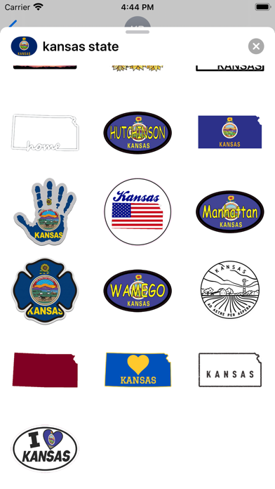 Kansas emoji - USA stickers screenshot 3