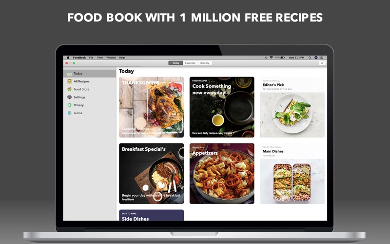 Food Book Recipes for Mac