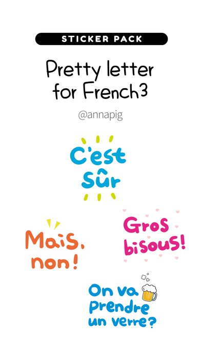Pretty letter for French3 screenshot 1