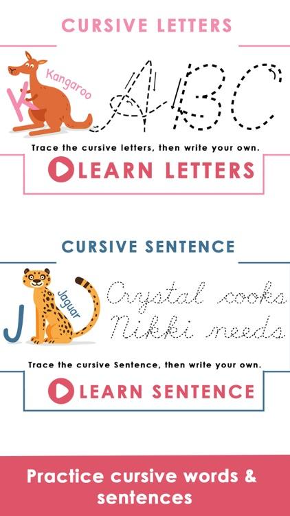 Learn Cursive Writing screenshot-5
