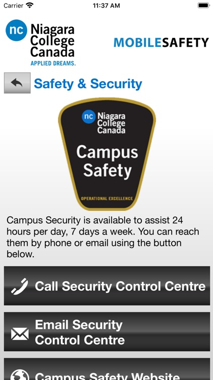Mobile Safety Niagara College screenshot-3