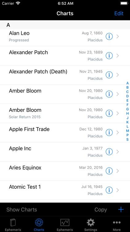 iPhemeris Astrology Charts screenshot-4