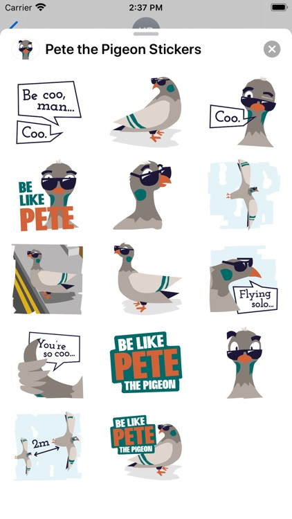 Pete the Pigeon Stickers