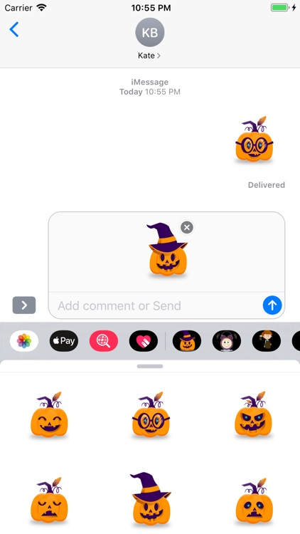 Pumpkin Active Sticker