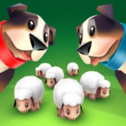 Dog and sheep - farm chasing